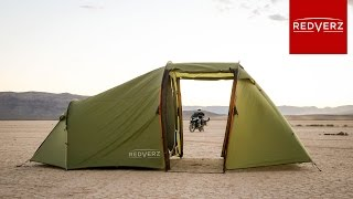 Redverz Atacama Motorcycle Expedition Tent Walk Through
