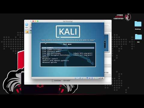 شرح تثبيت Kali كنظام تخيلي - دورة CHC