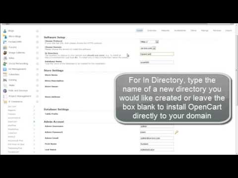 cPanel Hosting Tutorial - How to Install OpenCart Using Softaculous