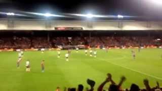 Selhurst Park after Gayle equalises for Palace against Liverpool