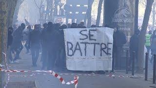 Manifestation interprofessionnelle : heurts en marge (19 avril 2018, Paris)