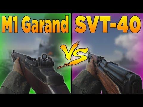 M1 Garand VS SVT-40 (Call of Duty WW2 Weapons Versus)