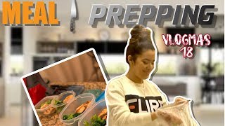 VLOGMAS DAY 18 | MEAL PREPPING | GLAMOUR FAMILY