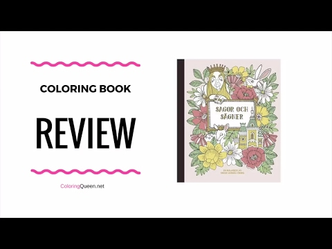Sagor Och Sägner Coloring Book Review - Emelie Lidehäll Öberg  🐰