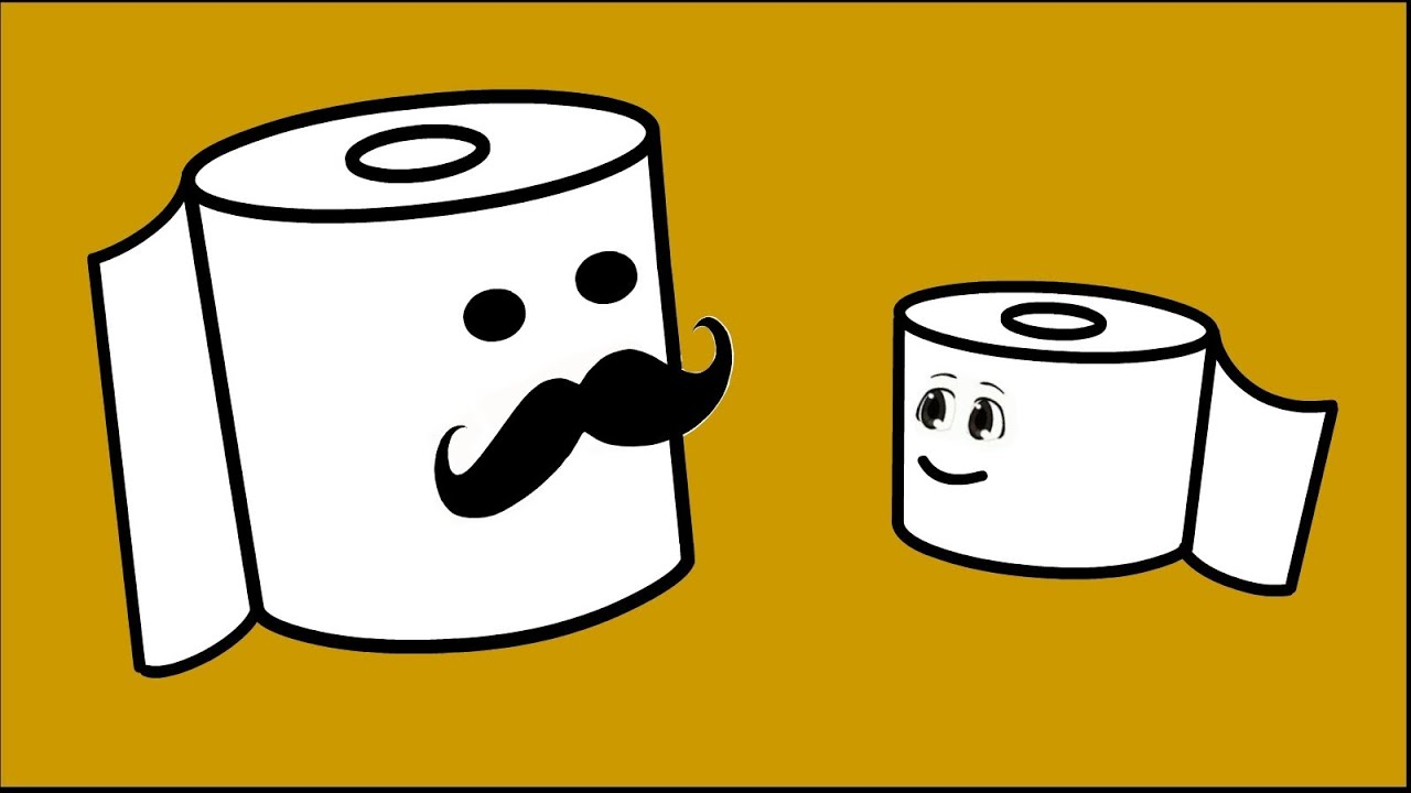 Life Purpose Of A Toilet Paper Roll - Funny Cartoon ...