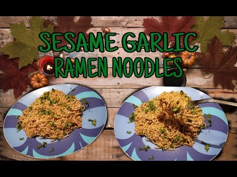 How to cook SESAME GARLIC RAMEN NOODLES