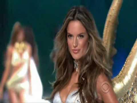 Alessandra Ambrosio at the Victoria's Secret Fashion Show 2008