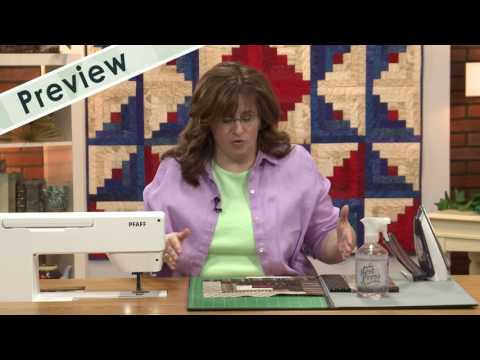 Lessons in Creativity - Episode 305 Preview - Chain Piecing Log Cabin Blocks