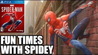 SPIDER-MAN PS4 - First Time Playing!