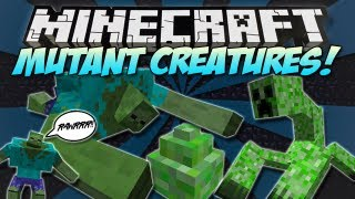 Minecraft | MUTANT CREATURES MOD! | MUTANT CREEPERS & ZOMBIES! [1.4.7]