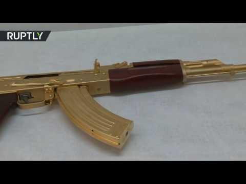 رشاش كلاشنكوف مصفح بالذهب عرض في تكساس  - نشر قبل 1 ساعة