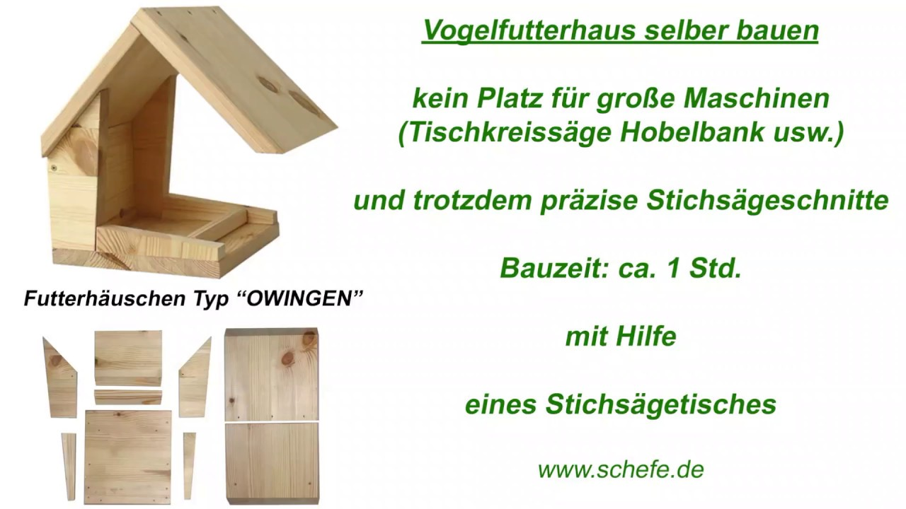 vogel futterhaus mit der stichs ge aus holz selber bauen youtube. Black Bedroom Furniture Sets. Home Design Ideas