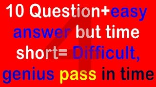 Real IQ Test Question and Answer - How Smart Your IQ? Intelligence Test (10 question) part 4