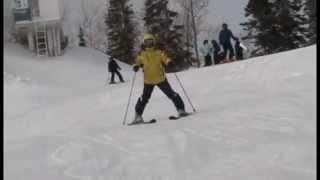 Как научится кататься на горных лыжах.Освоение поворота на параллельных лыжах