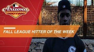 Luis Robert wins Fall League Hitter of the Week