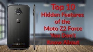 Top 10 Hidden Features for the Moto Z2 Force You Don't Know About - YouTube Tech Guy