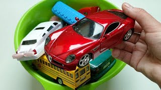 Learn Colors For Children with Cars and Trucks and Trains / Learn Vehicles with Toys for Kids