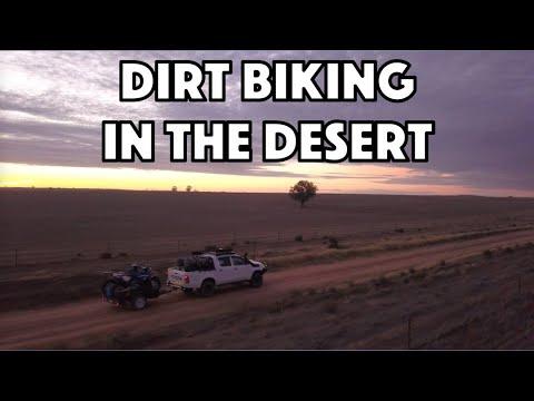 Dirt Biking through the Australian Desert