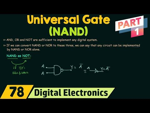 NAND Gate as Universal Gate (Part 1)