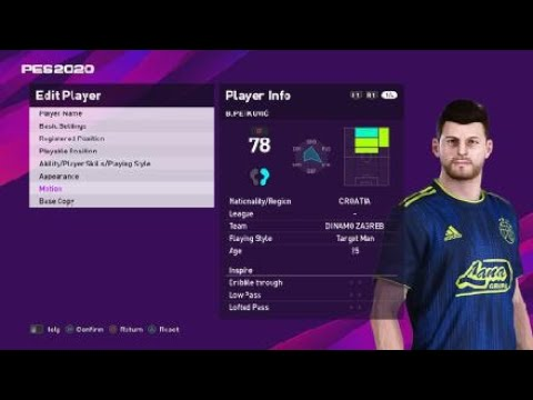 Bruno Petkovic Face E Football Pes 2020 Dinamo Zagreb Youtube