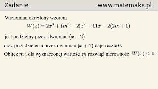 Matura rozszerzona - zadanie za 6 pkt - wielomian