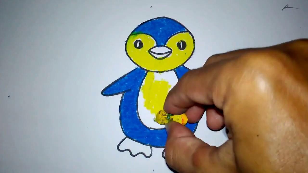 Cara Menggambar Boneka Pinguin Untuk Anak TK SD