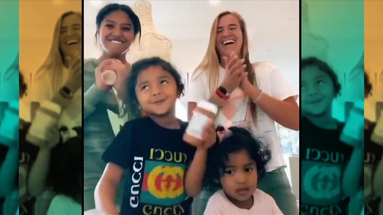 Vanessa and Kobe Bryant's Daughters Shake It With Sabrina Ionescu in Cute TikTok