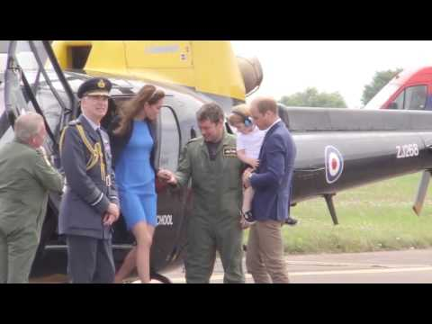 The Duke and Duchess of Cambridge and Prince George at RIAT AIRSHOW
