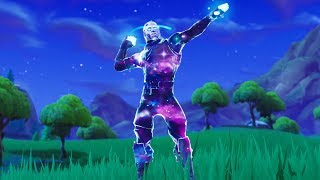 *NEW* GALAXY SKIN GAMEPLAY WITH ALL FORTNITE EMOTES..! (Boogie Down, Llama Bell, Intensity...)