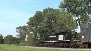 Rare! Penn Central Heritage SD70ACe on NS 65J in South Kearny 8/24/12
