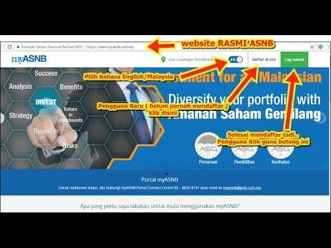 Amanah Saham Nasional Berhad dan mukabaru  hadapan website