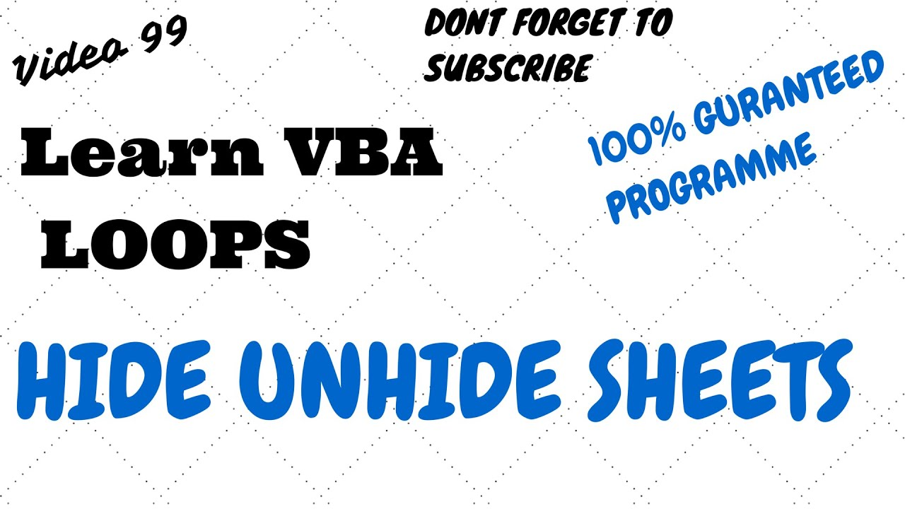 how to learn vba quickly