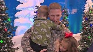 Friendswood Soldier Surprises Children as They Sat on Santa's Lap