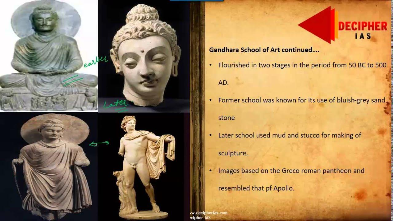 Indian Culture Gandhara Mathura And Amravati School Of Art Youtube