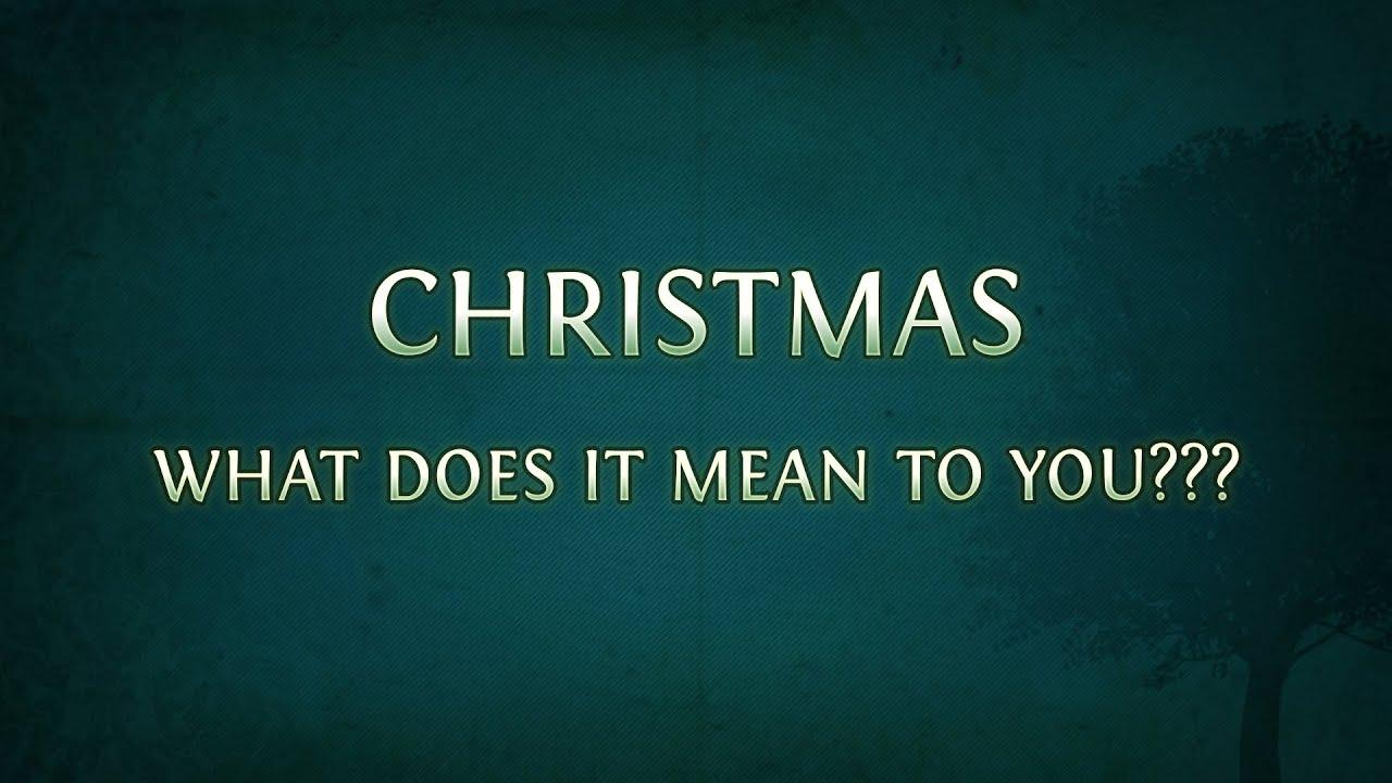 Cosa Significa Natale