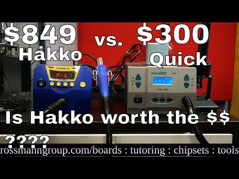 Quick 861DW vs Hakko FR810 hot air station review