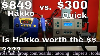 Download Video Quick 861DW vs Hakko FR810 hot air station review MP3 3GP MP4