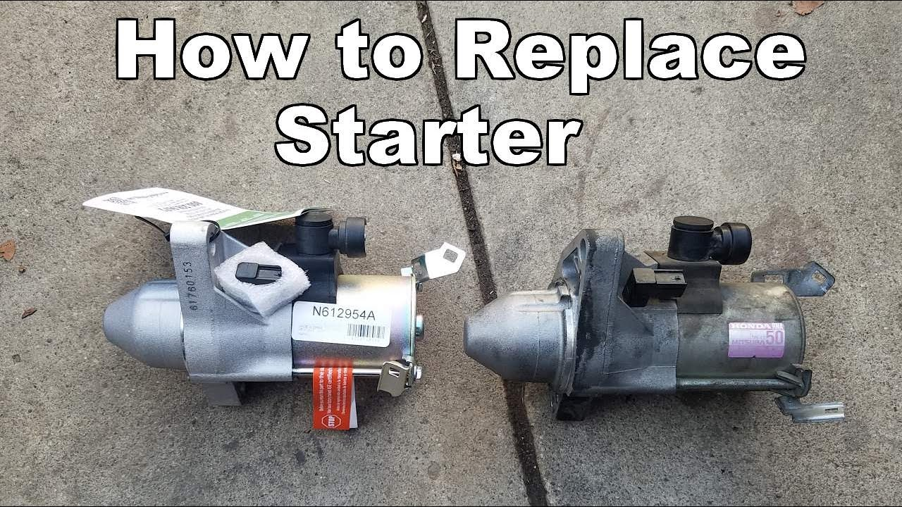 small resolution of 2006 2011 honda civic starter replacement