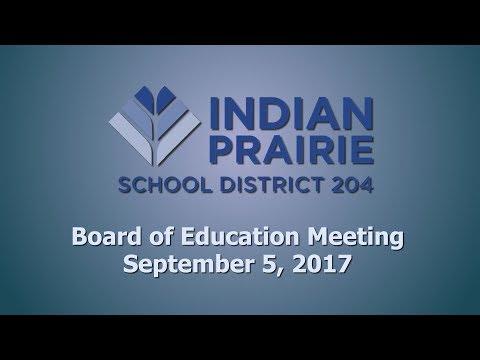 School Board Meeting: 09/05/2017