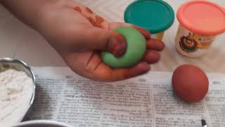How to make clay with flour and salt water very easy in tamil