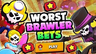 WOW! WORST BRAWLER MAX 20 TICKET BETS IN BIG GAME! | Brawl Stars | WORST BRAWLER BETS GAMEPLAY