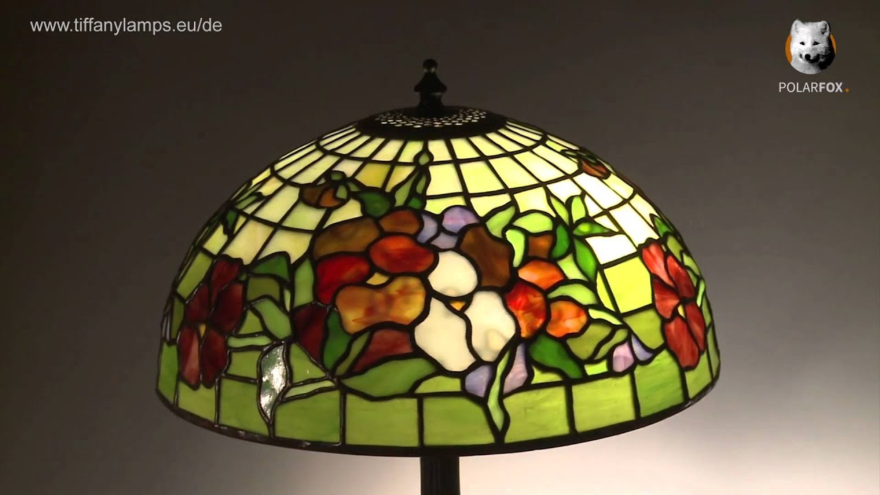 Tiffany lampe pansy tiffanylamps eu de youtube