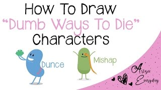 How To Draw Dumb Ways To Die Characters | Dunce, Mishap
