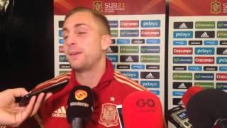 Gerard Deulofeu (Everton) tras ganar con España a Georgia en Almería haciendo un hat-trick