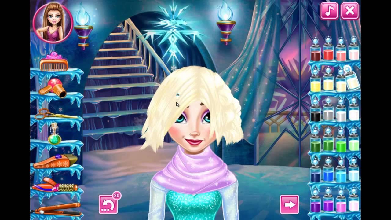 Disney Frozen Game Elsa Frozen Real Haircuts Video Games For Kids