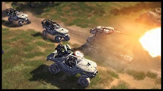 UNSC SCORPIONS WARTHOGS Halo Tanks Recon Vehicles - Call to Arms Halo Mod Gameplay