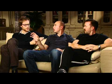Ricky Gervais, Stephen Merchant and Karl Pilkington: An Idiot Abroad interview