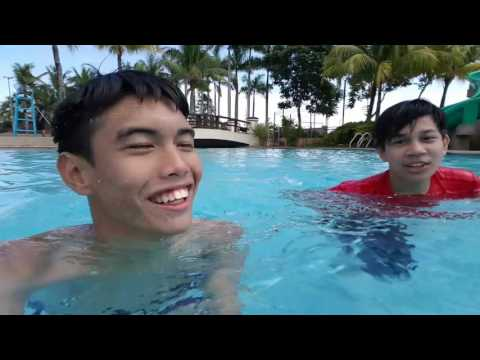 Swimming with my friends