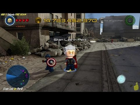 Lego Marvel Avengers: HUB 4 / Sokovia FREE ROAM (All Collectibles) - HTG