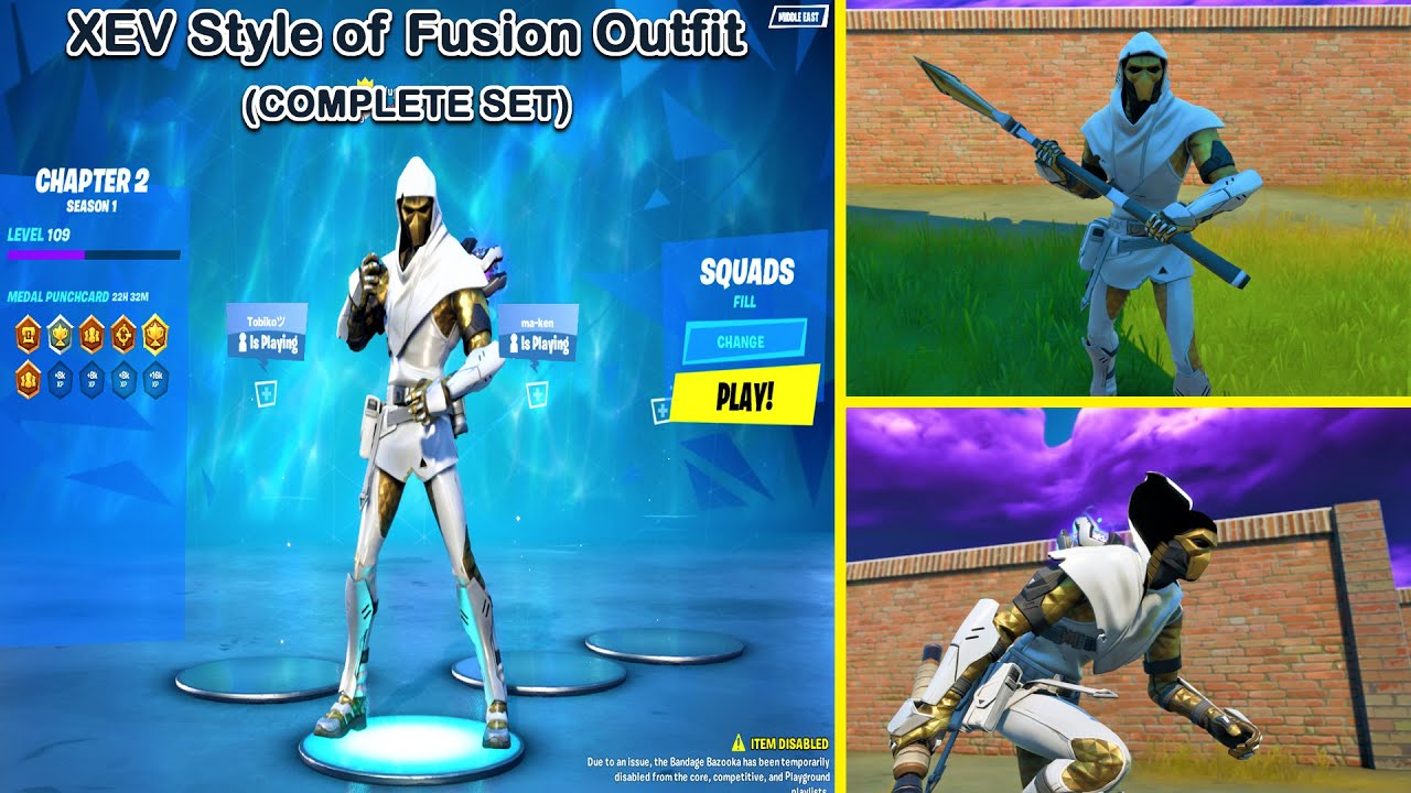 Unlocking XEV Style of Fusion Outfit/Skin and Complete XEV Style Fusion Set  in Fortnite Chapter 12